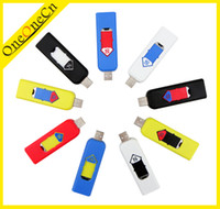 Wholesale Wind Resistant Electronic USB Rechargeable Cigarette Lighters for good gift