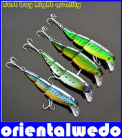 Wholesale Sections Minnow Fishing Lure cm g pc Floating Lures Hard Bait pack Multi corlors hight quality original free ship