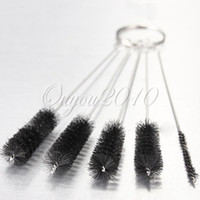 Cheap Wholesale-OP-2014 New Arrival 5 pcs SET Nylon Brush Shank BRIAR Tobacco Pipe Cleaner Cleaning Stainless Steel Free Shipping