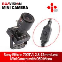 Vidéo osd France-Haute résolution HD 1/3quot ;Menu osd Sony 960H CCD Effio-e 700TVL Mini de sécurité CCTV Caméra anti-vandale D-WDR 2.8 à 12mm 0.001 LUX cachées vidéo Su