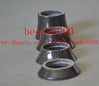 Wholesale 2014 new carbon fiber bicycle parts headset spacer bike washer top cap road cycling fork cover mm