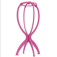 Wholesale Folding Plastic Stable Durable Wig Hair Hat Cap Holder Stand Display Tool BS