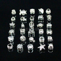 Wholesale Mix Style Big Hole Loose Beads charm For Pandora DIY Jewelry Bracelet For European