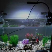 Wholesale Flexible V Aquariums Accessories Aquarium Fish Tank LEDs Clip Light Lighting Lamp Touch Switch Modes White Blue