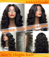 Wholesale Beauty best quality Glueless Full lace wigs Brazilian human hair front lace wig with baby hair around A Virgin Remy Hair