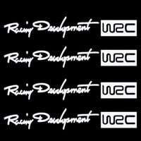 Cheap 4Pcs Set Racing Development WRC Car Sticker Auto Door Knob Handle Decals Reflective Stickers White Free Shipping Drop Shipping