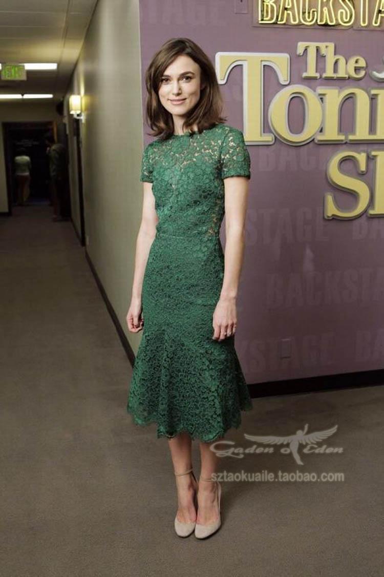green lace peplum dress images
