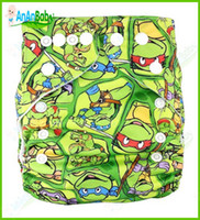 Wholesale Hot Sale Baby Cloth Diapers Microfiber Insert AnAnbaby Jctrade Cartoon Cloth Diapers