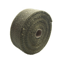 Cheap L:10m W: 5cm Titanium Color Cool it Titanium Exhaust Heat Header Wrap