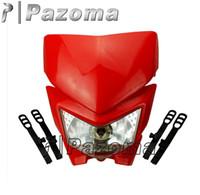 enduro - RED Motorcycle Head Light Dual Sport ENDURO STREETFIGHTER CR XR CBR CRF CCM GAS GAS