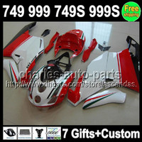 7gifts For DUCATI 749- 999 Red white 03- 06 749 999 749S 999S ...