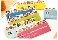 Wholesale New Pages Lovely cartoon Sticker Bookmark Point lovely Sticky Notes sticky marker