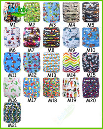 Wholesale Newborn Cloth Diaper Washable Baby Cloth Diapers Nappies Cover Reusable Print Pul Fabric With MF Inserts