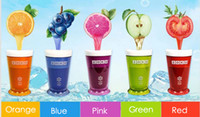 Wholesale 2015 ZOKU Slush Shake Maker Ice Make Smoothie Cup Authentic Home made Ice Cream Tools Creative Cups Drinkware Factory DHL Free