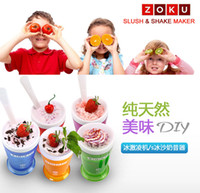 Wholesale 2015 ZOKU Slush Shake Maker Ice Make Smoothie Cup Authentic Home made Ice Cream Tools Creative Cups Drinkware Factory DHL