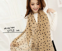 Wholesale 2014 Fashion autumn winter Lady s All match dot scarf Chiffon scarves QJ091 Colors