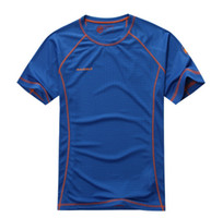 Wholesale breathable coolmax outdoor quick drying t shirt short sleeve quick dry men shirts fast drying sportswear