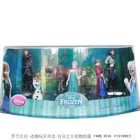 Wholesale OP set PVC Frozen Figurines Anna Elsa Hans Kristoff Sven Olaf Action Figures Cake Topper Toy Classic Toy Frozen Gifts