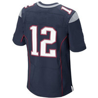 Wholesale #12 Tom Brady Navy Blue 2014 Elite Jersey American...