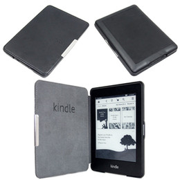 Wholesale 1pc Slim Magnetic Folio Auto Sleep Leather Case Wake Sleep Function Smart Cover For Kindle Paperwhite inch eReader Case CN