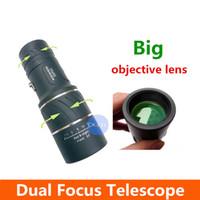 Cheap Wholesale-OP-Sale 2014 New 16x52 Dual Focus Optics Monocular Telescope with Sports Hunting Concert,Faint light Night Vision Scope,Binoculars