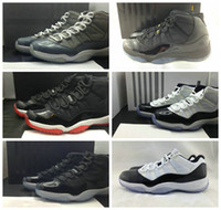 Wholesale Discount Retro Basketball Shoes Popular XI Training shoe J11S Men Womens Basketball Shoes Concord Bred Space Jam Cool Grey