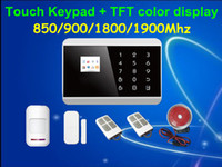 alarm system keypads - Touch Keypad TFT display Wireless Zones GSM PSTN SMS Home PIR Voice Burglar Alarm Security System Auto dialing