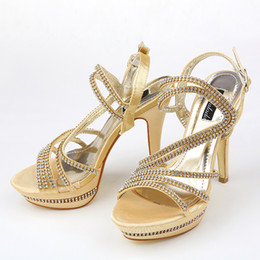 Wholesale Exquisite New Summer Sequins Wedding Shoes High Heel Shoes High Heel Bridal Shoe for Prom Dresses SY08