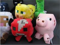 Wholesale Minecraft Plush Stuffed Doll Toys Enderman Creeper Ocelot Squid Baby Pig Sheep Mooshroom kinds of Action Figure Figures