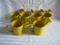 decorative tin - Yellow color Wedding Birthday Favors Watering can sharp pure garden bucket tin box Iron pots flower metal decorative mini watering cans