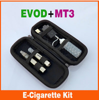 Single Black Metal EVOD MT3 electronic cigarette sigleStarter Kit With USB Rechargable 2.4ml capacity MT3 Atomizer evod battery eGo Kit in Ego zipper case