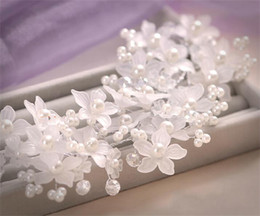 Wholesale Petal Pearl Wedding Bridal Hairband New Beaded Hair Dress Evening Party Queen Bridal Tiara Headband Hot sale Bridal Accessories New LJW028