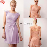 Wholesale Dreaming Design Hot Sale Corset Ruffles Sexy Strapless Silver Sash Lavender Chiffon Girls Formal Party Bridesmaid Dresses