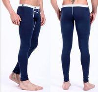 Cheap long johns warm pants for men sport Male winter trousers Boy's fashion underwear with pouch pocket Novelty new arrive leggings