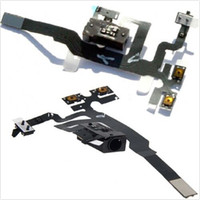 audio jack parts - For GSM iphone S gs G Headphone Jack Mute Switch Volume Buttons Audio Flex Cable Ribbon iphone4S Black White Replacement Repair Parts