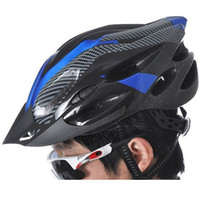 Wholesale 2014 New Vents Outdoor Sports Carbon Fiber Mountain Road MTB Bike Bicycle Cycling Safety Helmet with Visor Adult