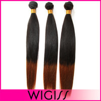 Cheap Wholesale wig real hair wigs gradient Two Tone Human Hair wig foreign trade in Europe and America
