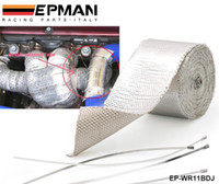 Wholesale Tansky High Quality Heat Shield Wrap Tape for Car intake intercooler pipe Reflective Insulation Silver EP WR11BDJ