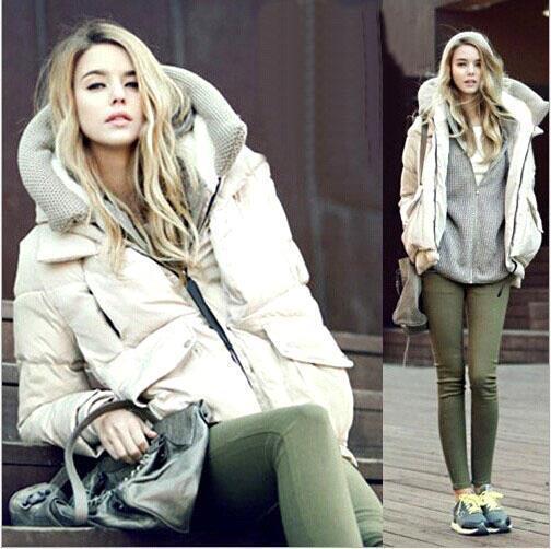 2017 Hot Women'S Street Fashion Down Coat Jacket Winter Parka Fur ...