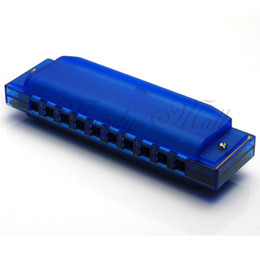 Wholesale OP Holes Diatonic Blues Harp Harmonica Key of C Translucent