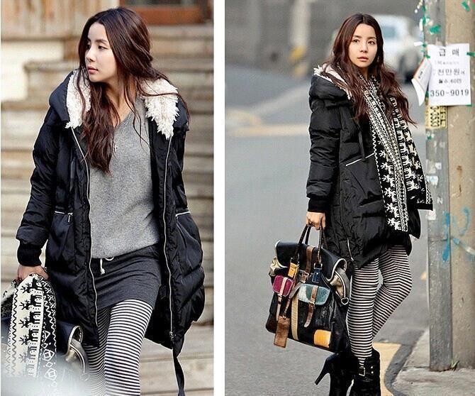 HOT Women's Street Fashion Down Coat Jacket Winter Parka Fur ...
