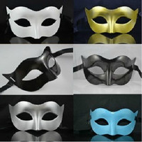 Wholesale Mens Mask Halloween Masquerade Masks Mardi Gras Venetian Dance Party Face Mask Mixed Color