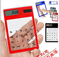 calculator - OP New Transparent Electronic Calculator Digit LCD Solar Calculator Touch Screen Counter Calculating Tool