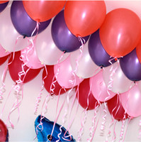 balloons birthday - 100pcs quot Pearlised Latex Helium Inflable Thickening Pearl Wedding Party Birthday decoration Balloon