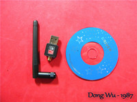 Wholesale 2014 Hot Mini High Speed USB M Mbps Wireless LAN Adapter b n g WiFi w dBi Network Card Antenna Cd rom drive