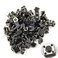 Cheap 100pcs Tactile Push Button Switch Momentary Tact 6x6x5mm DIP Through-Hole 4pin