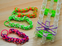 Cheap HOT SALE-Rubber DIY Gift Loom Bands Kids DIY Bracelet Silicone Looms Bands with color box Kit Set Refills EMS free shipping from friends66