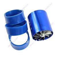Cheap F1-Z Double Supercharger Universal Turbine Turb Air Intake Fuel Gas Saver Fan BL