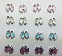 Cheap 2014 wholesale Mix colors Silver Butterfly gifts Floating Charms fit floating charms for glass locket