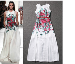Wholesale 2014 The new spring and summer paragraphs euramerican star in shows Long printing cultivate one s morality dress Long skirt LQ4491